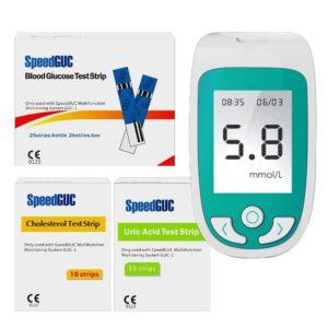 الجهاز الثلاثى لقياس اليوريك اسيد والكوليستيرول والسكر بالدم